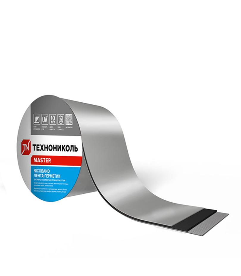 Лента гидроизоляционная Nicoband 10 м х 15 см, серебристый