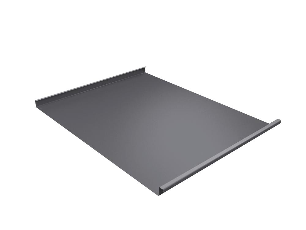 Панель двойной стоячий фальц Grand Line 0,5 мм Satin, RAL 7004 (серый)