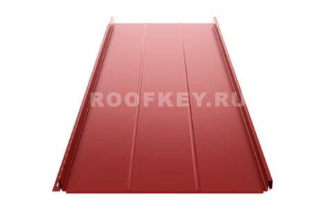 Панель фальцевой кровли Ruukki Classic D 0,5 мм GreenCoat Pural Matt BT, RR29 (красный)