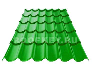 Металлочерепица ОЗЛК М-Люкс 0,5 мм Полиэстер (Россия), RAL 6002 (зеленый)