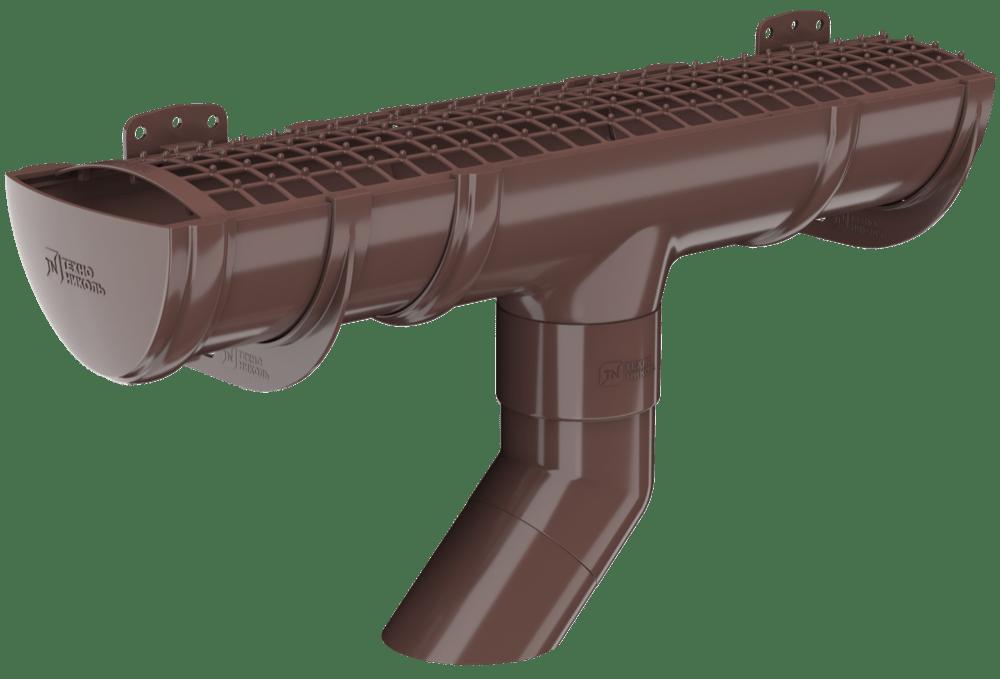 Пластиковый водосток Verat Технониколь 125/82 Коричневый (RAL 8017)
