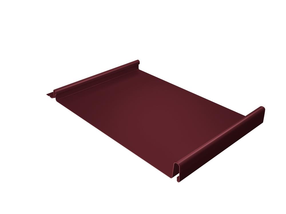 Панель двойной стоячий фальц Grand Line 0,5 мм Satin, RAL 3005 (вишневый)