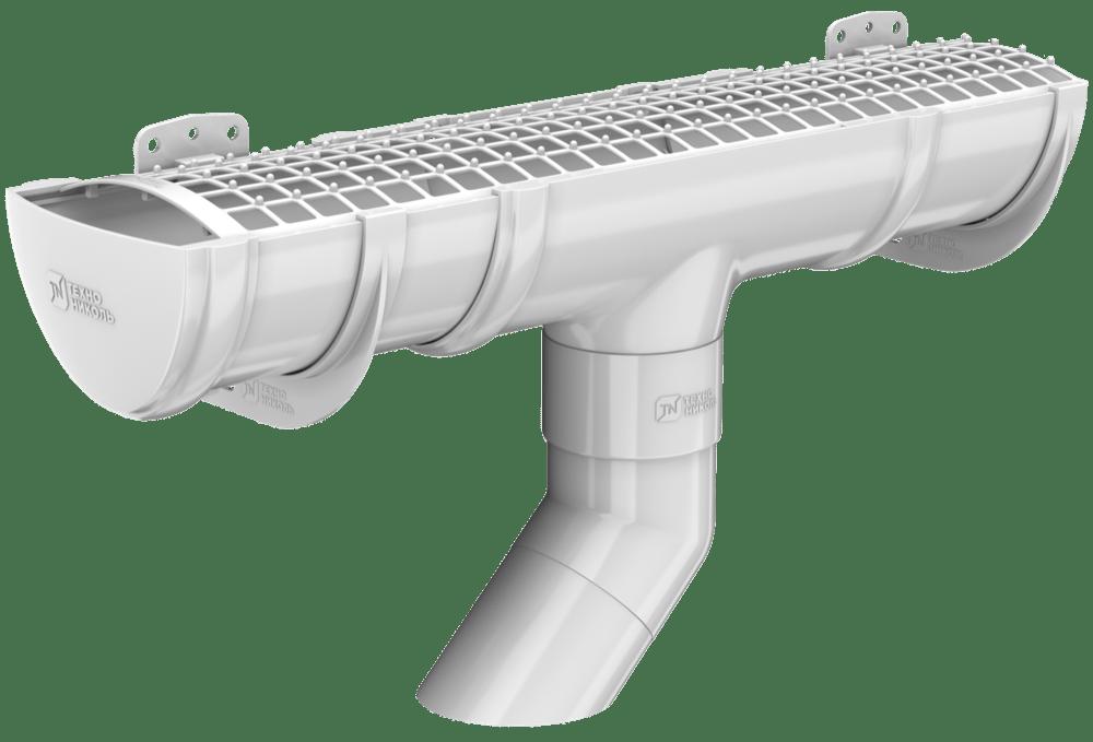 Пластиковый водосток Verat Технониколь 125/82 Белый (RAL 9003)