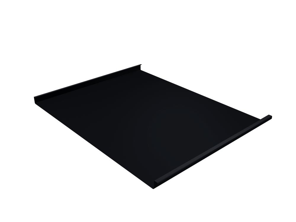 Панель двойной стоячий фальц Grand Line 0,5 мм Satin, RAL 9005 (черный)