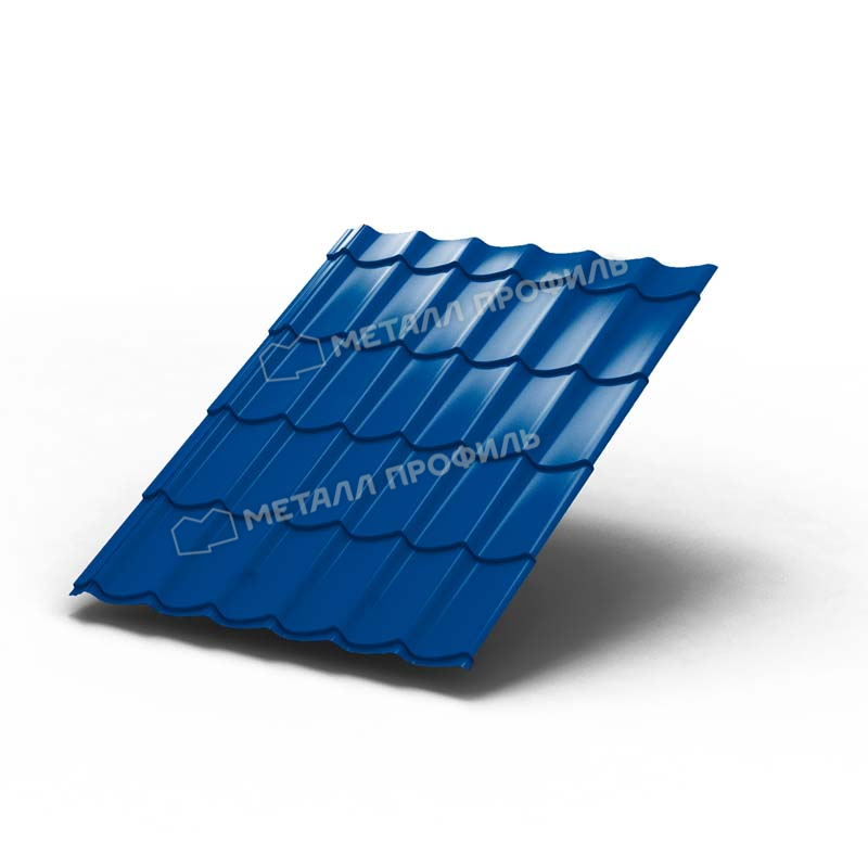Металлочерепица МП Ламонтерра 0,4 мм Полиэстер, RAL 5005 (синий)