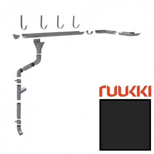 Металлический водосток Ruukki, 125/90 Greencoat RWS RR 33 (Черный)