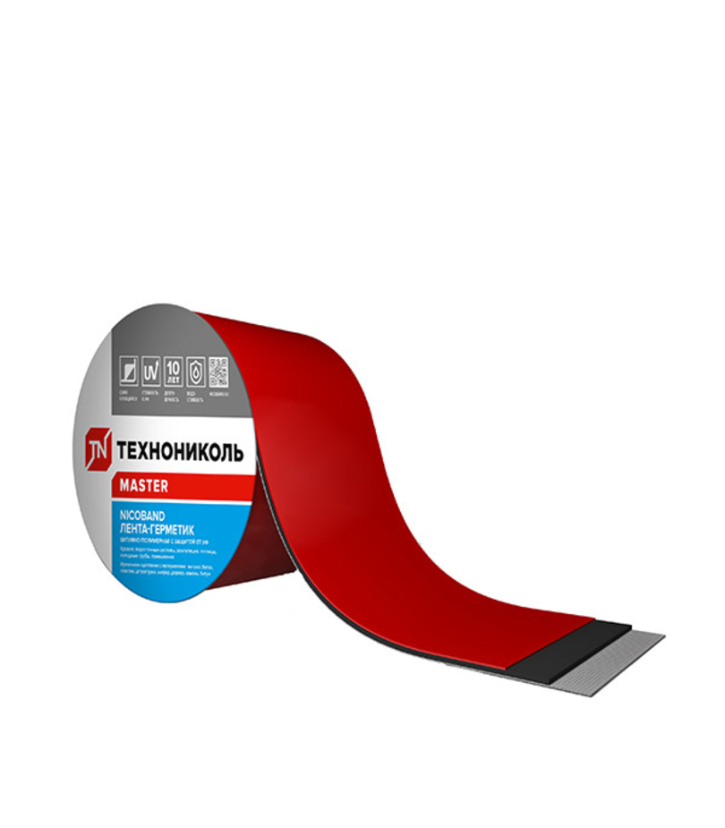 Лента гидроизоляционная Nicoband 3 м х 10 см, красный