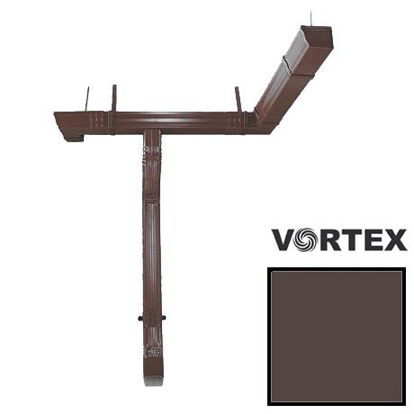 Металлический прямоугольный водосток Vortex, Полиэстер RAL 8017 (Коричневый шоколад)
