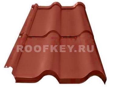 Металлочерепица ОЗЛК Испанская Дюна 0,5 мм GreenCoat Pural BT matt BT, RR 29 (красный)
