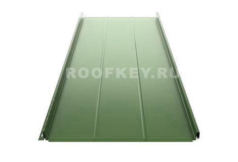 Панель фальцевой кровли Ruukki Classic Authentic™ D 0,6 мм GreenCoat Pural Matt BT, RR11 (зеленый)