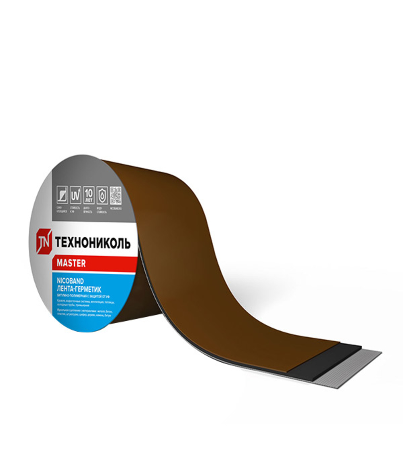 Лента гидроизоляционная Nicoband 10 м х 30 см, коричневый