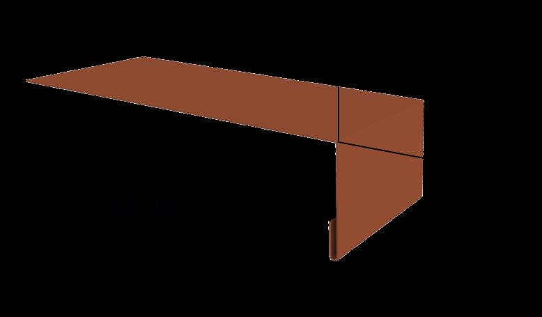 Металлический наружный откос на окно Вид-1, 1250х60 мм Полиэстер