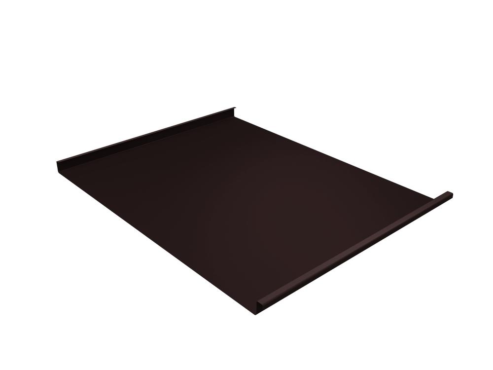 Панель двойной стоячий фальц Grand Line 0,45 мм Drap, RAL 8017 (коричневый)