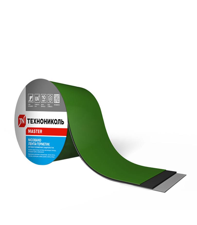 Лента гидроизоляционная Nicoband 3 м х 10 см, зеленый