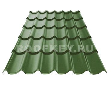 Металлочерепица ОЗЛК М-Люкс 0,5 мм GreenCoat Pural BT, RR 11 (т-зелёный)
