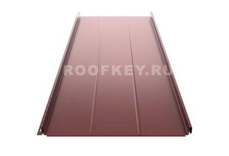 Панель фальцевой кровли Ruukki Classic D 0,5 мм GreenCoat Pural Matt BT, RR887 (коричневый)
