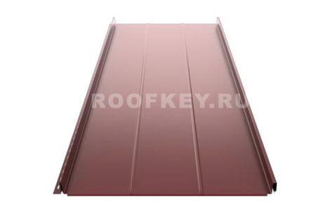 Панель фальцевой кровли Ruukki Classic Authentic™ D 0,6 мм GreenCoat Pural Matt BT, RR887 (коричневый)